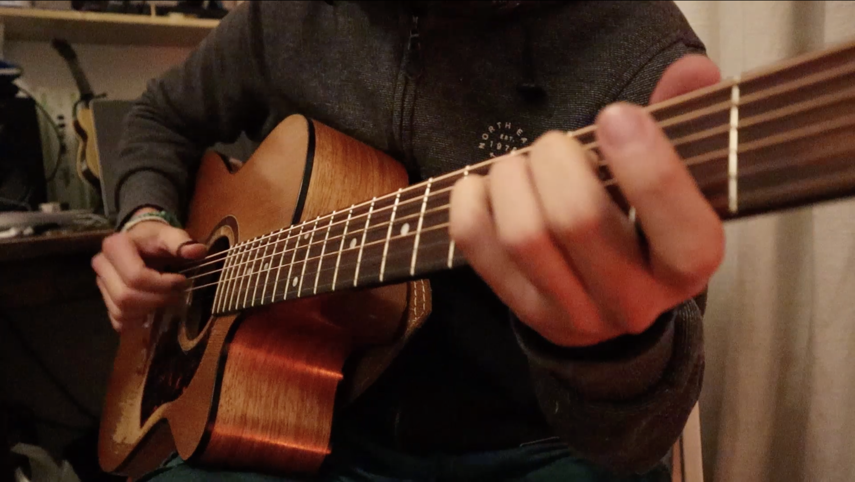 Electronic Beat on Acoustic Guitar | Composition Idea